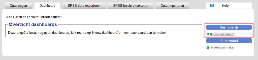 Nieuw dashboard toevoegen